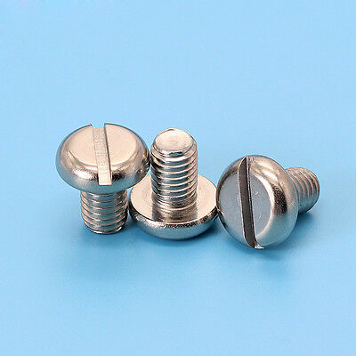 M10 x 30mm Stainless Slotted Pan Hd Screws  6 pack