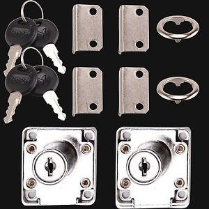 Cam lock for door cabinet mailbox drawer cupboard 2 locks for Cam lock kitchen cabinets