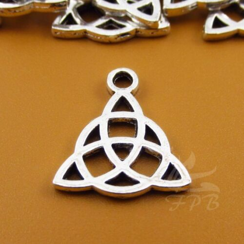 Celtic Trinity Charms 17mm Antiqued Silver Plate Pendants SC0022106-8//15//30PCs
