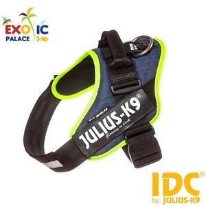 Julius-k9 Idc Powerharness Jeans Avec Bord Néon Fluo Bavoir Nylon Pour Chien