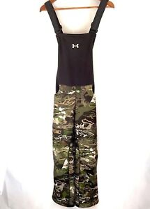 6591644abef66 Under Armour Womens Storm Forest Camo Bibs Sz Medium Hunting Pant ...