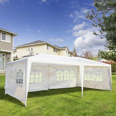 10'x20' Gazebo Canopy Outdoor Party Wedding Tent w/ 4 Removable Window Sidewalls
