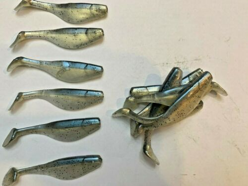 """GHOST SHAD 40 pack Paddle Tail Swim Bait 4/"""" Paddle Tail Shad USA"""