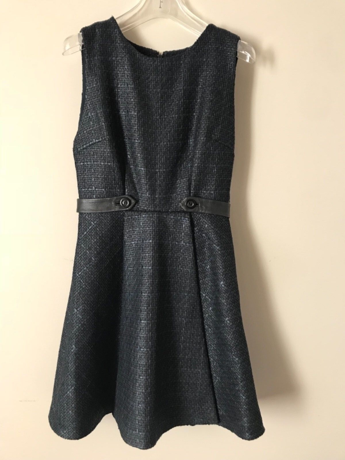 e60f506ac0 368 NWT Alice + Olivia Navy Tweed Fit and Flare Dress Size 2 ...