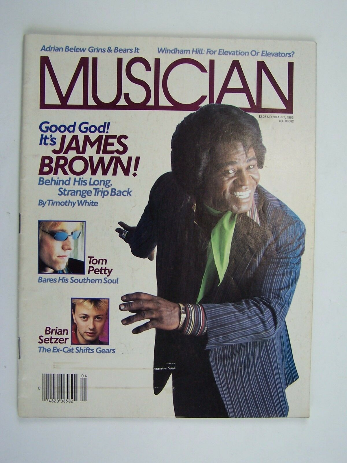 Musician Magazine April 1986 (James Brown Cover) Issue