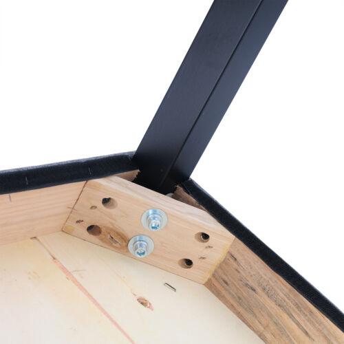 Barhocker 2 x Bistrohocker Küchenhocker Stoff Bezug Holz Dunkelgrau BH64dgr-2