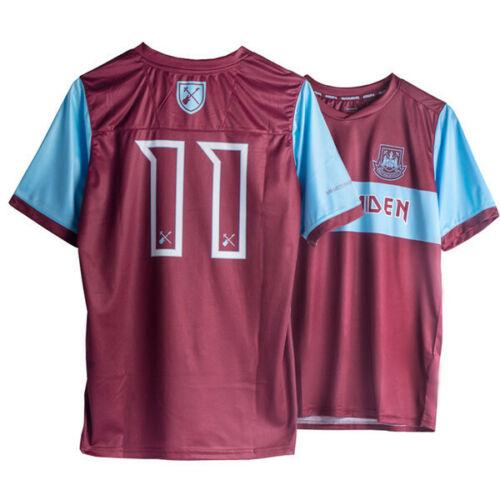grands hommes West Ham United Iron Maiden Shirt 100/% Royaume-Uni évaluations du vendeur