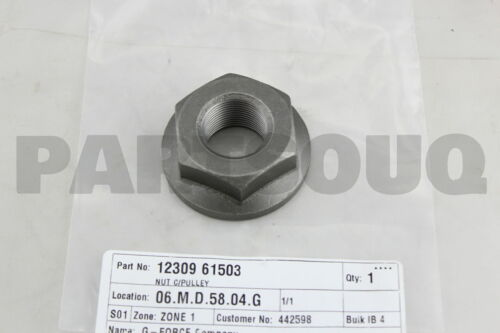 1230961503 Genuine Nissan NUT-PULLEY,CRANKSHAFT 12309-61503
