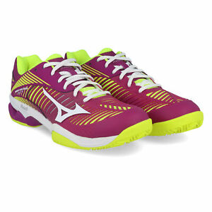 Court Tennis Shoes Purple Yellow Sports