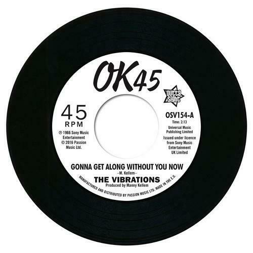 VIBRATIONS Gonna Get Along Without You Now /Cause Your Mine NEW NORTHERN SOUL 45