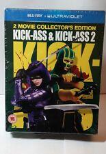 Kick-Ass /Kick-Ass 2(Blu-ray Disc,2013)NEW- Free Shipping - Both Kick-Ass Movies