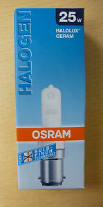 die letzen osram halolux ceram b15d 25 w matt 64466am 64466 am ebay. Black Bedroom Furniture Sets. Home Design Ideas