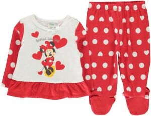 Clothing, Shoes & Accessories Hard-Working ✅ Disney Minnie Maus Mouse Baby Schlafanzug Mädchen Hose Pullover Pyjama Set Neu Harmonious Colors
