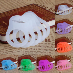 5Pcs Silicone Button Baby Dummy Pacifier Holder Clip Adapter for Mom Rings