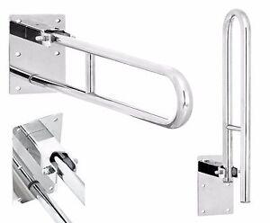 Stainless Steel Hinged Bathroom Safety Rail Grab Bar