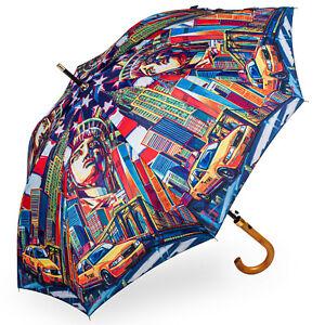 Stormking Classic a piedi Lunghezza Ombrello-Città di RACCOLTA-NEW YORK a colori