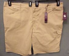 3e3f3ea9be062 GLORIA VANDERBILT LUISA CARGO BERMUDA SHORTS women plus size 24W TAN NWT   2559