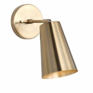 SAFAVIEH Leonardo 1-Light Brass Gold Sconce - GallyHo