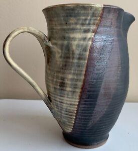 Vintage 60s Hand Crafted Studio Pottery Ceramic Pitcher Mid Century Modern Deyoe