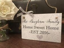 New Home Gift Made To Order Handmade Modern Grey Hallway Plaque Sign Lovely Gift