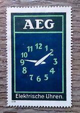 Original Modernist Poster stamp AEG Electric Clock Peter BEHRENS c.1910 Bauhaus