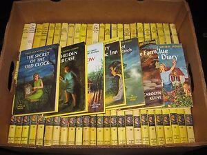 Nancy Drew Series #1-56 Matte Hardcover Lot Carolyn Keene Books