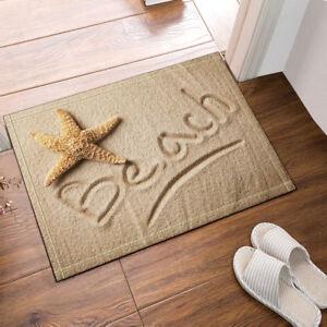 Image Is Loading Starfish And Beach Door Mat Bathroom Rug Bedroom