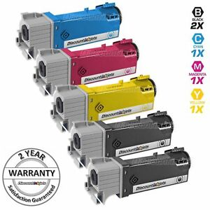 5-BLACK-amp-COLOR-106R01597-Toner-Cartridge-for-Xerox-Phaser-6500-Workcentre-6505