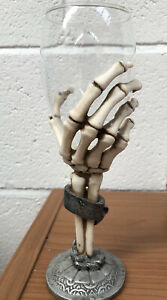 CLAW-GOBLET-034-NEMESIS-NOW-034-PAGAN-GOTHIC-SKELETON-HAND-GLASS-GOBLET