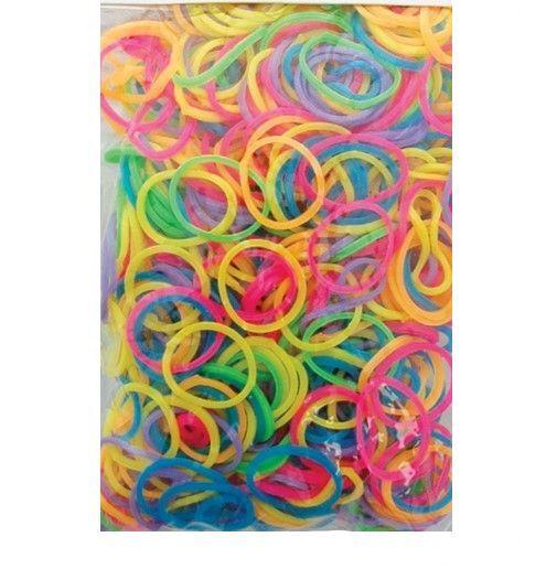 Bright Coloured Mini Elastic Hair Bands Headbands For Braids Or Cornrows