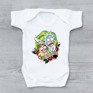 Wubba Lubba Dub Dubb, Funny Rick and Morty Baby Grow Bodysuit Vest, Unisex Gift