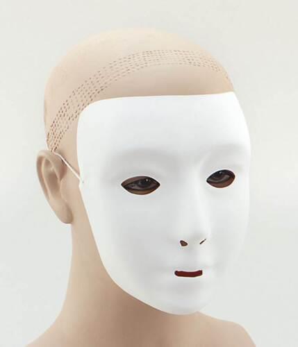 Robot Maschera per gli occhi costume HALLOWEEN ROBOT in plastica Bianco Tinta Unita faccia maschera