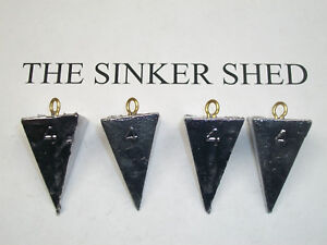 Lot of 25 Pyramid Fishing sinkers 25-4oz sinkers