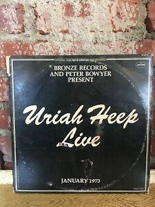 Uriah Heep Live Vinyl Album Srm 2 7503 Double Album January 1973 Fold Out Cover Ebay