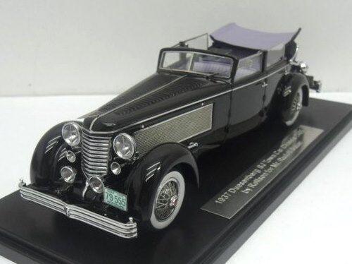 ESVAL 1937 DUESENBERG SJ Town car Voiture miniature 1 43 (Ouvert) MODELCAR EMU 43004d