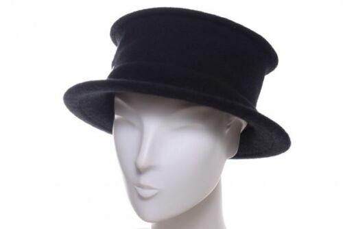 Seeberger walkhut avec rectangulaire tête noir Laine Chapeau Casquette knautschbar Hiver