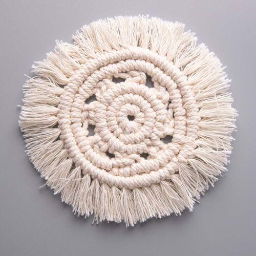 Macrame Cup Pad Table Mat Pure Handmade Cotton Braid Non-slip Insulation Mats