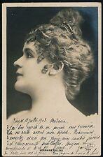 GERMAINE GALLOIS - Carte-Photo Artiste 1900 - 56