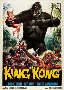 King Kong 1966 A1 Vintage Movie Poster High Quality Canvas Art Print