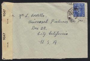 U.S GB 1943 Guerra Tiempo Censurado Carta A Lou Costello Universal Fotos Famous