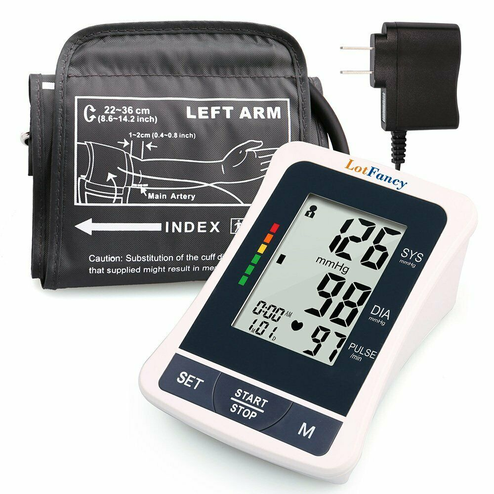 Best Portable Blood Pressure Monitor Digital LCD With Upper