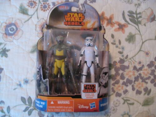 Star Wars Rebels Mission Series MS01 Zeb /& Stormtrooper cardées figures