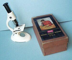 Microscope Vintage Enuro Microscope Optik 75x Mikroskop pour Enfants '50