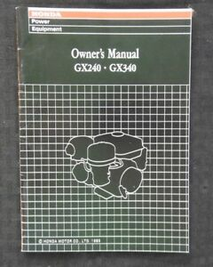 GENUINE-HONDA-GX240-amp-GX340-ENGINE-OPERATORS-OWNER-039-S-MANUAL-VERY-NICE