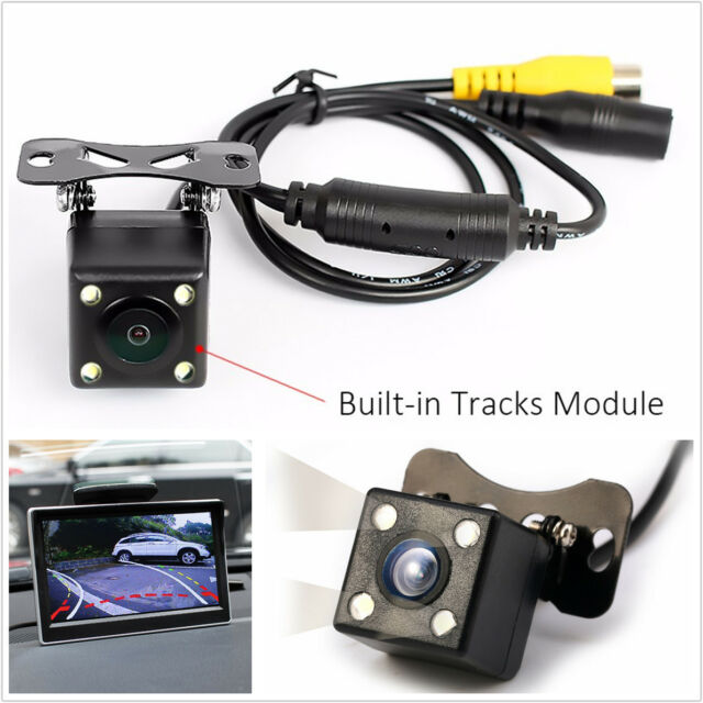 1x 4led Ir Night Vision Car Reversing Rear View Dynamic Trajectory Camera Safety Ebay Motors