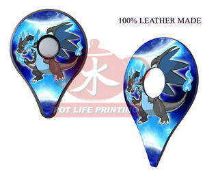 Details About Pokemon Go Plus Leather 2 Pcs Mega Charizard X Top Cover Skin Stickers Accessory