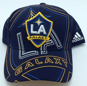 176b696aa03bd MLS Los Angeles Galaxy Adidas Flex Fit Cap Hat Beanie Style  M659Z ...