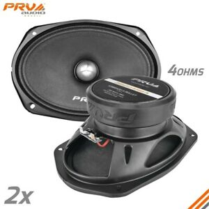"2x Loud 6x9"" Car Speakers PRV 500 Watt 4 Ohm Midrange PRO Audio 69MR500-4 BULLET"