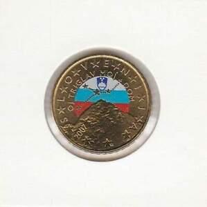 Slovenie-standaard-50-cent-Unc-2007-Gekleurd-Colored