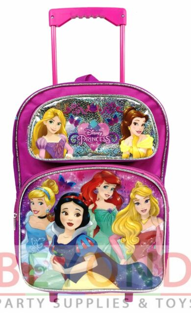Disney Princess Large School Rolling Backpack 16